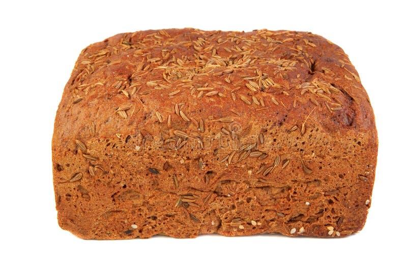 Pão de Rye com semente de alcaravia fotos de stock