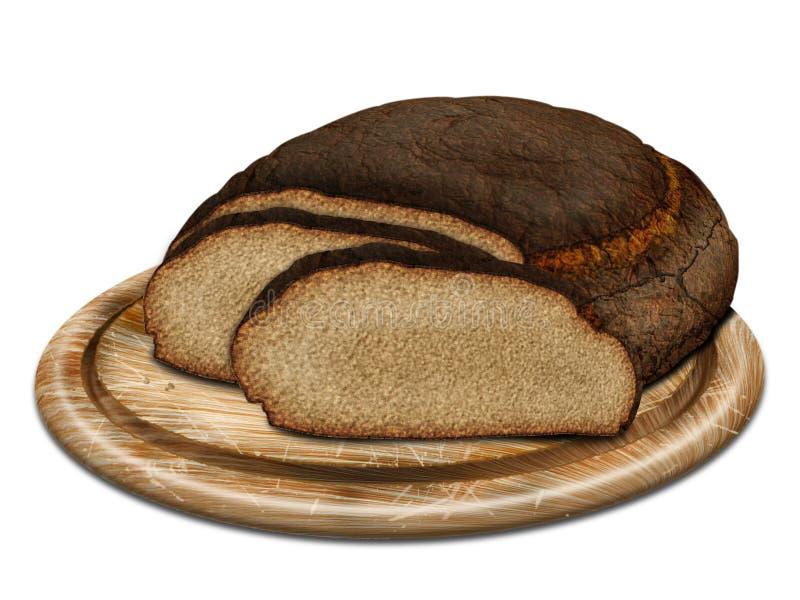 Pão de Rye na mesa ilustração stock