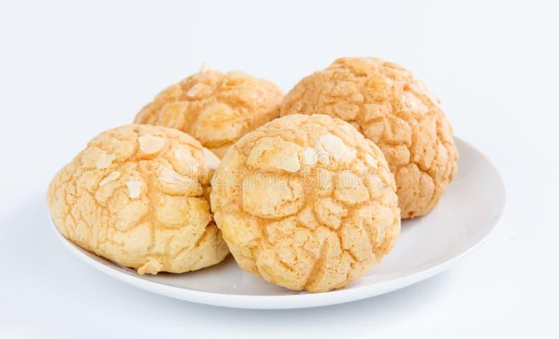 Pão do abacaxi imagens de stock