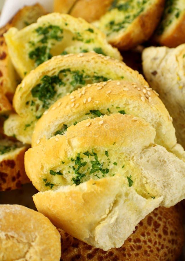 Pão do alho e da erva foto de stock