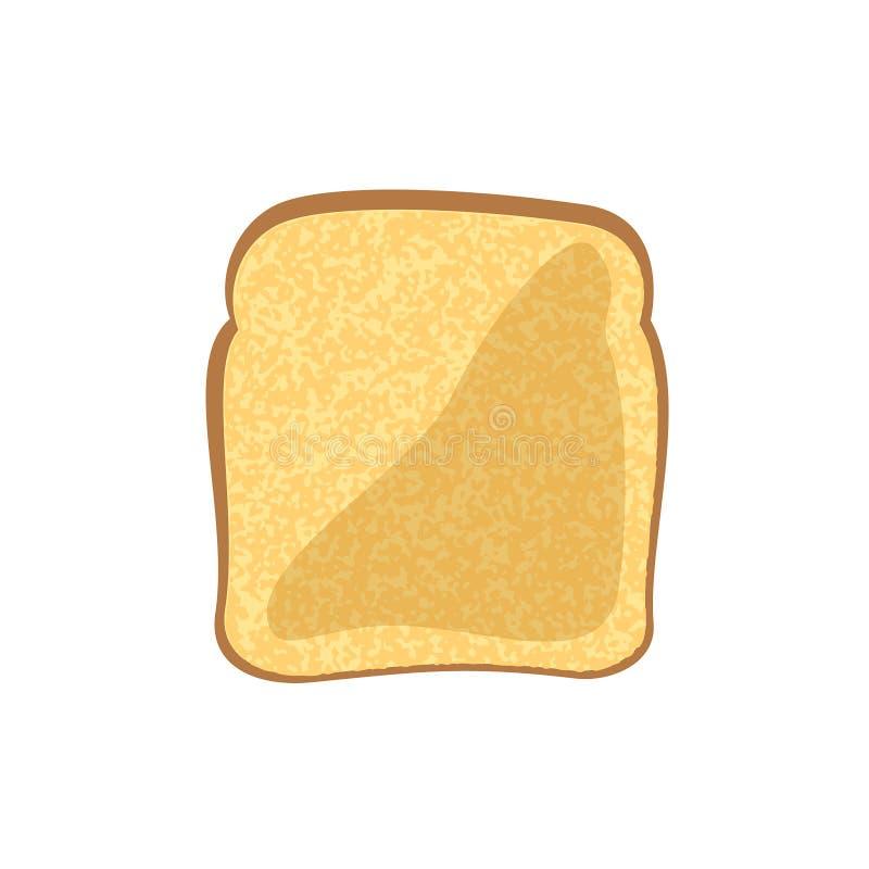 Pão do brinde no fundo branco ilustração stock