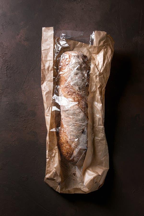 Pão do ciabatta do artesão imagens de stock