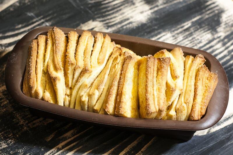 Pão do doce da tração-distante imagem de stock