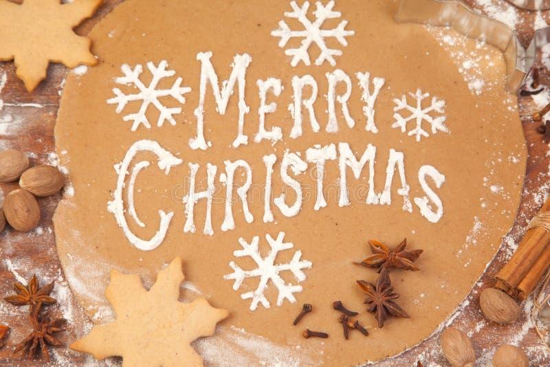 Pão do gengibre dos feriados do Natal imagem de stock