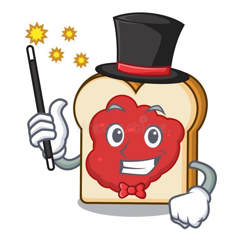Pão do mágico com desenhos animados da mascote do doce ilustração stock