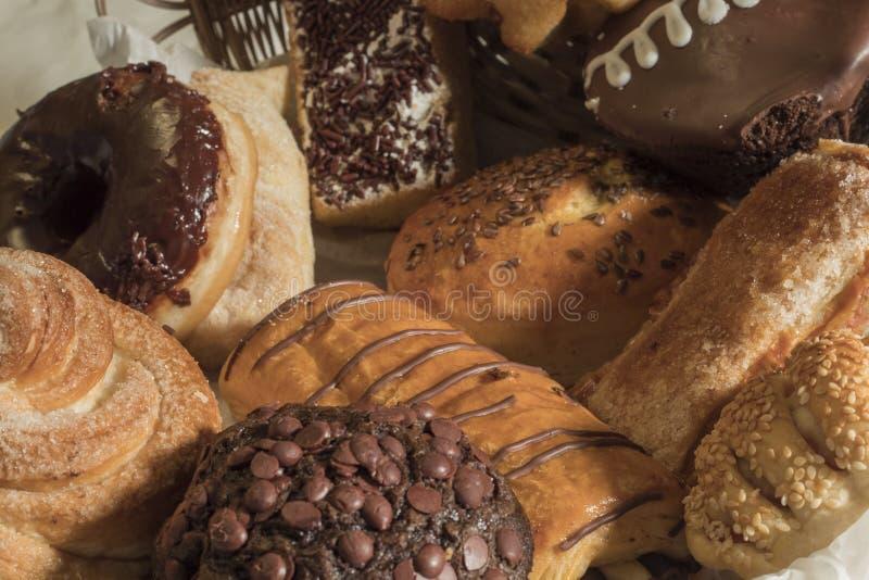 Pão doce sortido imagem de stock