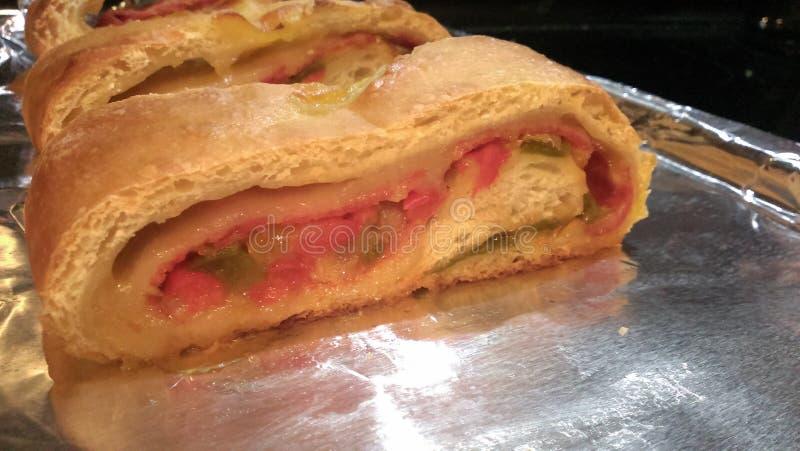 Pão dos Pepperoni fotos de stock