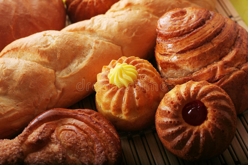 Pão e bolos foto de stock royalty free