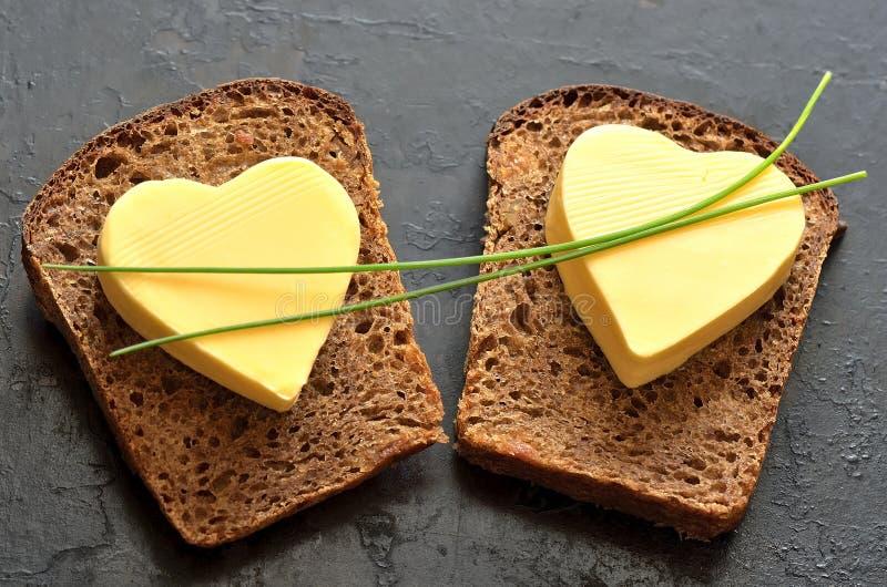 Pão e manteiga fotos de stock royalty free