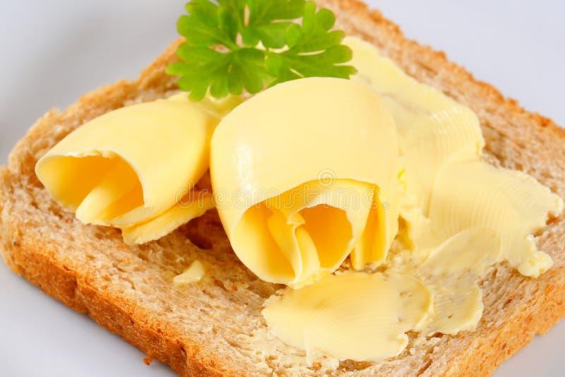 Pão e manteiga fotos de stock