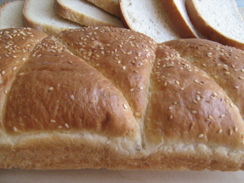 Pão e partes do pão foto de stock