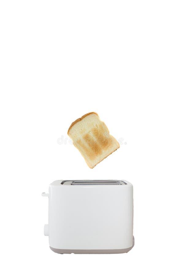 Pão e torradeira branco fotografia de stock royalty free