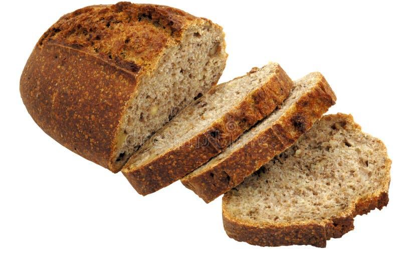 Pão francês cortado em fatias fotografia de stock