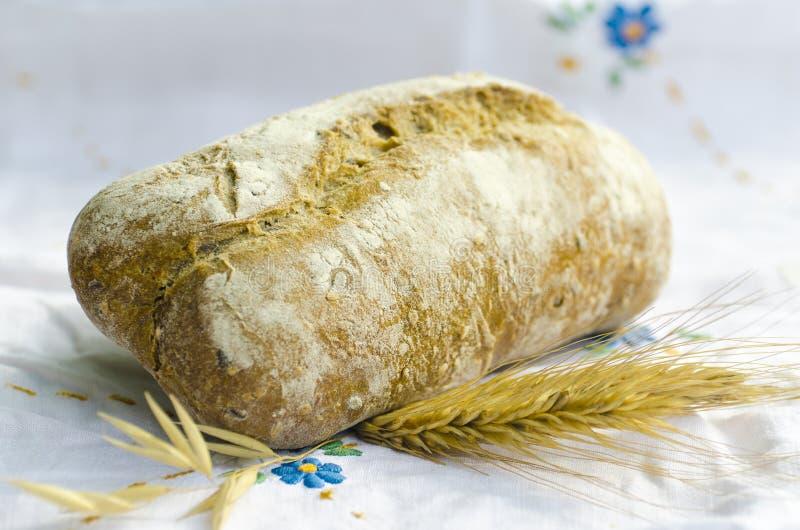 Download Pão fresco foto de stock. Imagem de comer, tablecloth - 26500794