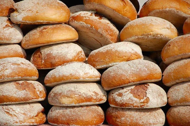 Pão fresco diário foto de stock