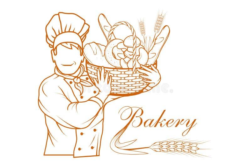 Pão fresco Produtos da padaria ilustração stock