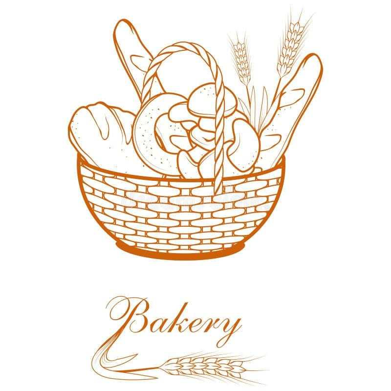 Pão fresco Produtos da padaria ilustração do vetor