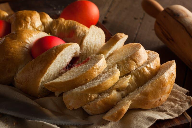 Pão grego caseiro da Páscoa fotos de stock
