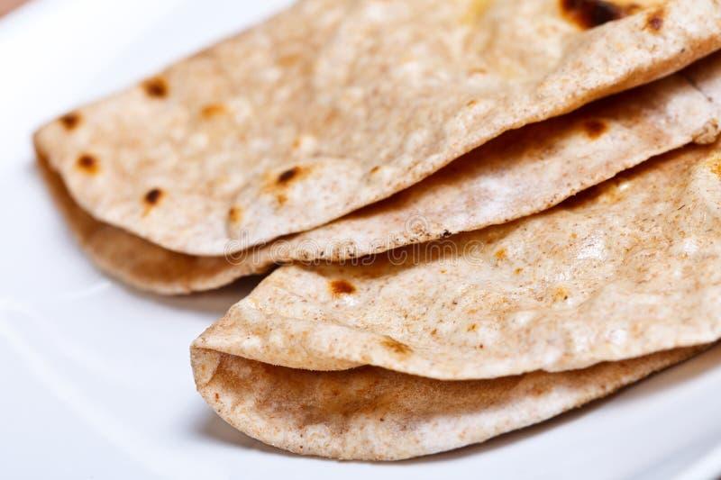 Pão indiano tradicional - Chapatti imagem de stock royalty free