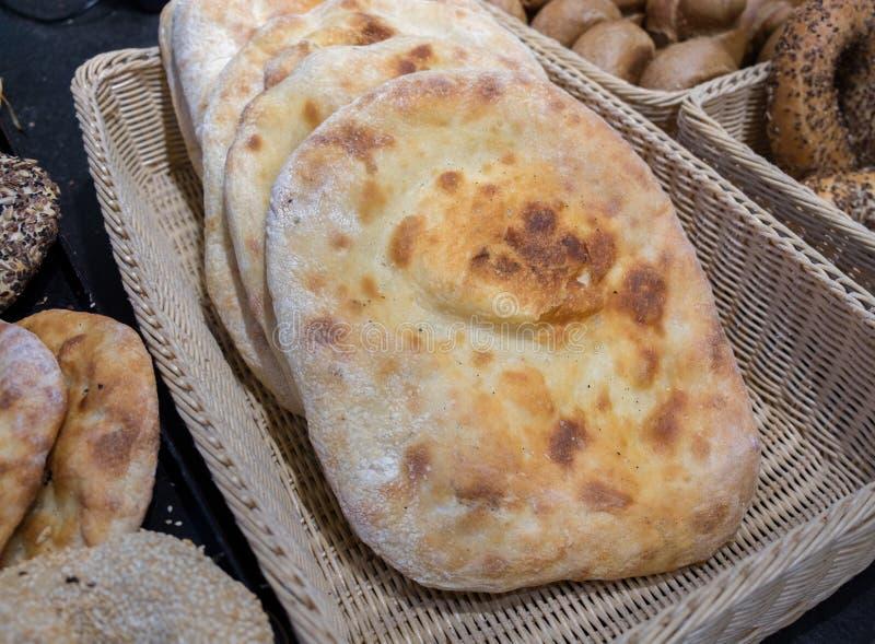 Pão iraqian da tradição fresca fotografia de stock