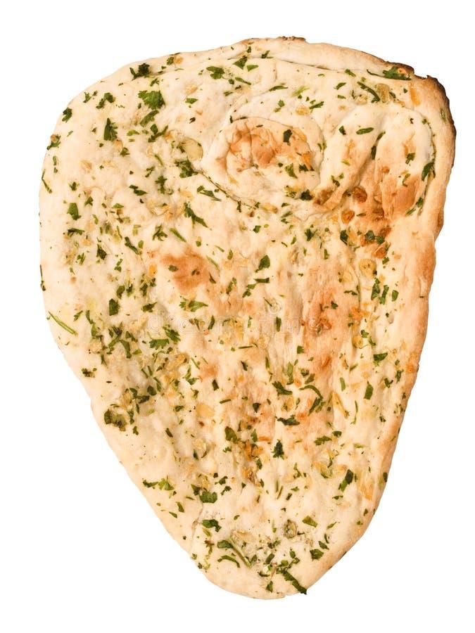 Pão naan indiano do alho e da salsa imagens de stock