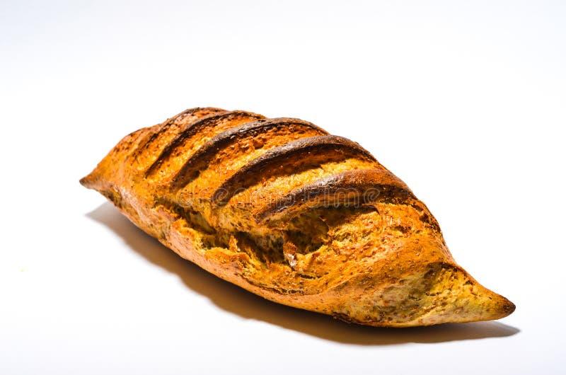 Pão no fundo branco imagens de stock