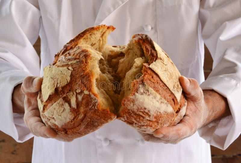 Pão rústico imagens de stock