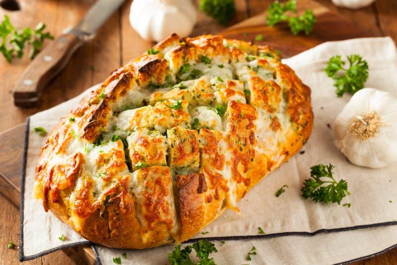 Pão separado da tração de queijo caseiro imagens de stock