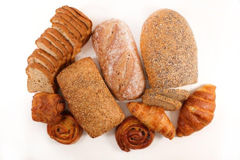 Pão sortido e pastelarias imagens de stock