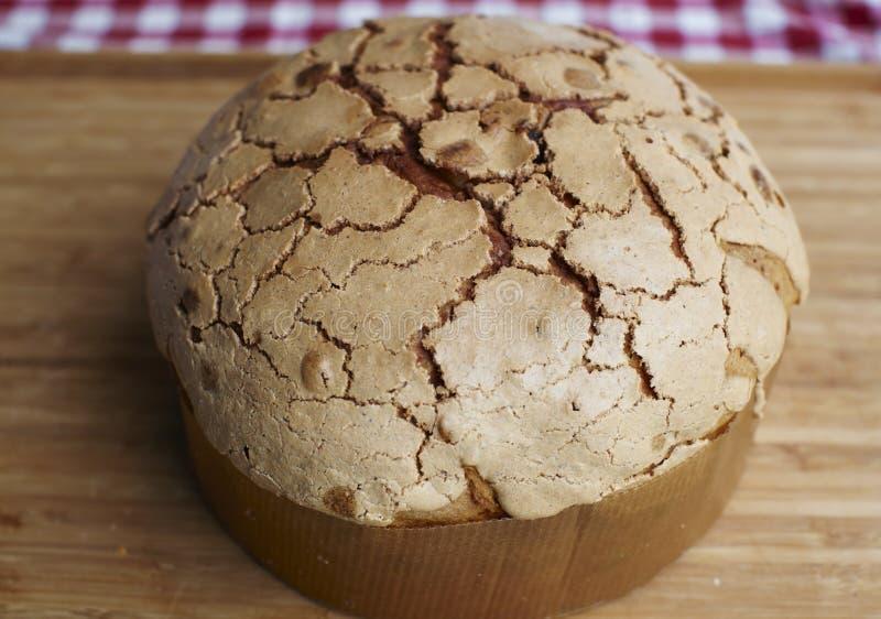Pão típico do Natal do Panettone em Italy imagens de stock