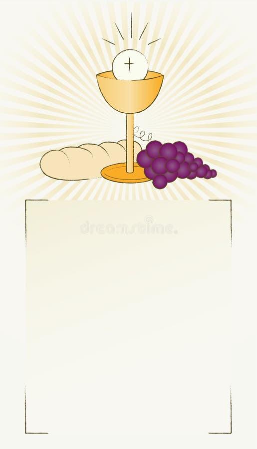 Pão, vinho e chalice santamente do comunhão ilustração royalty free