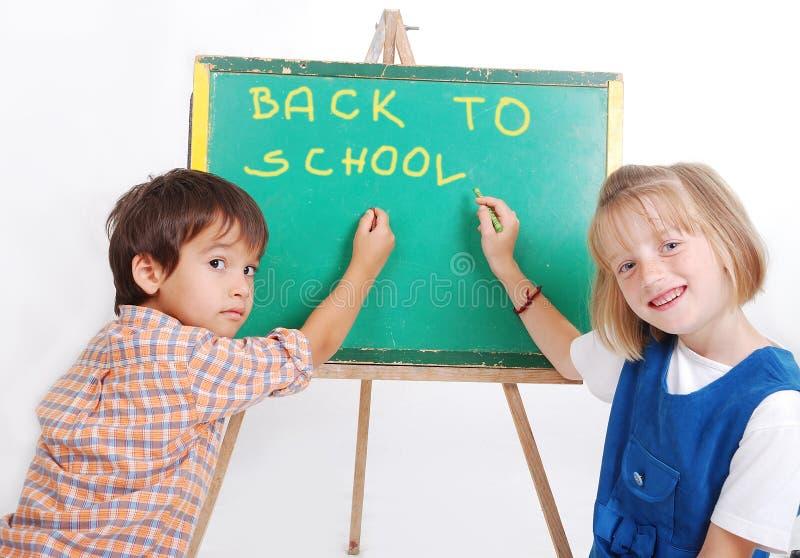 Pädagogische Aktivitäten in der Frontseite des kleinen Vorstands stockfoto