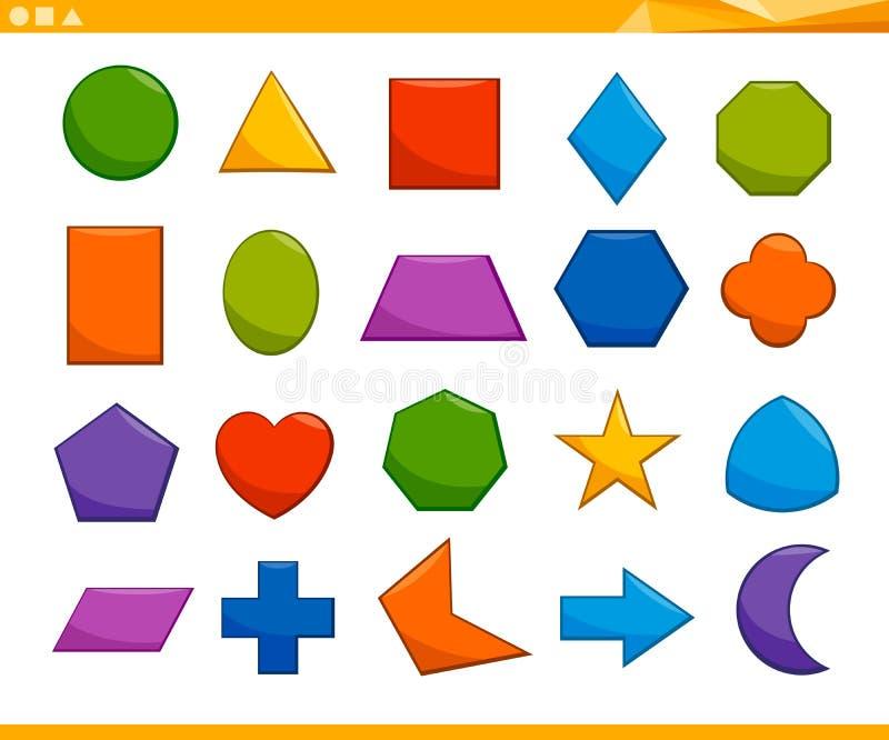 Pädagogischer grundlegender geometrischer Formsatz stock abbildung