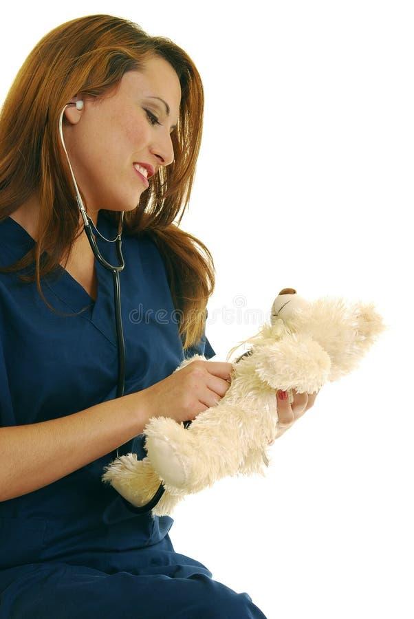 Pädiatrische Krankenschwester stockfotografie