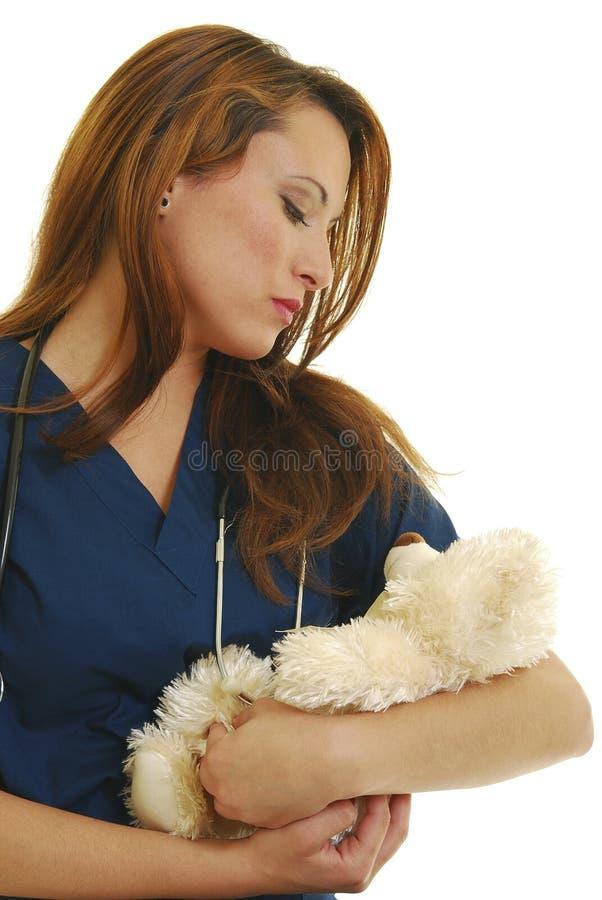 Pädiatrische Krankenschwester lizenzfreies stockbild