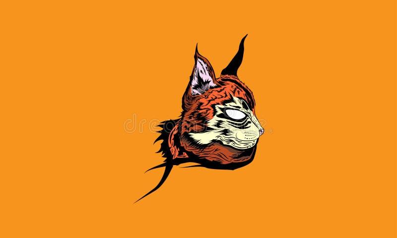 Päls- katt för räv vektor illustrationer