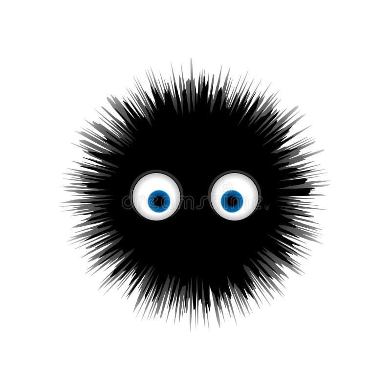 P?ls- monster, f?r teckenvektor f?r rund tecknad film taggig illustration vektor illustrationer