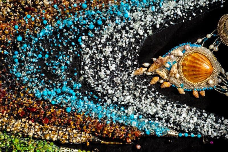 pärla chaplet som pryder med pärlor arkivfoto