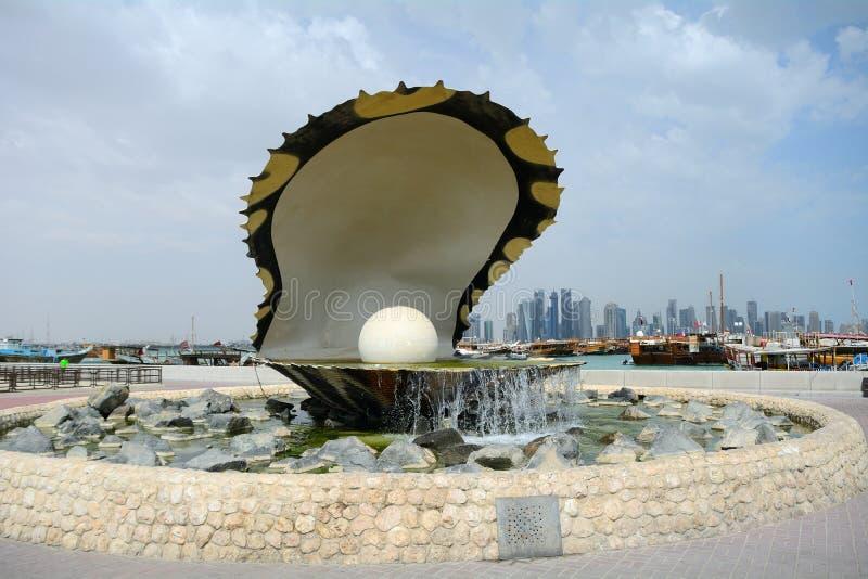 Pärlan, Doha, Qatar royaltyfria foton