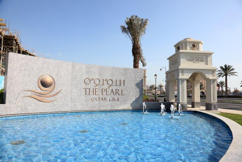 Pärlan i Doha, Qatar royaltyfria foton