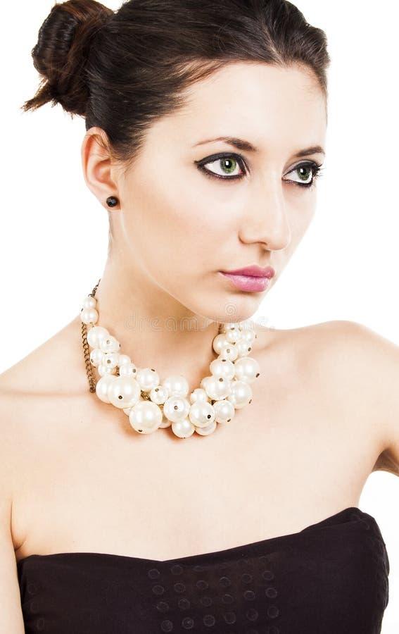 Pärlemorfärg halsband royaltyfri foto