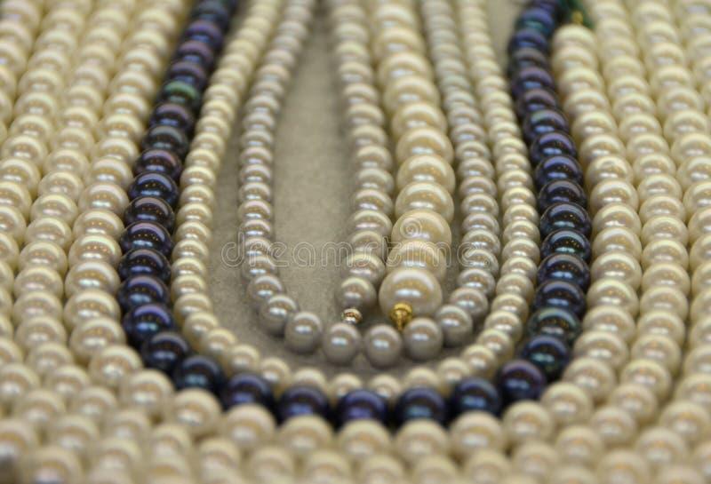 Pärlemorfärg halsband arkivbilder