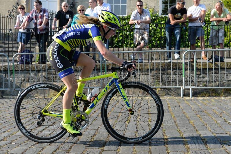 Pärlemorfärg Izumi Tour Series Bicycle Race final i badet England arkivfoto