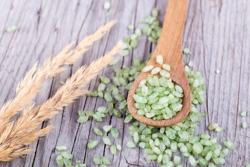 Pärlemorfärg ris för bambu eller för jade royaltyfri bild