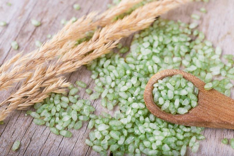 Pärlemorfärg ris för bambu eller för jade royaltyfri foto