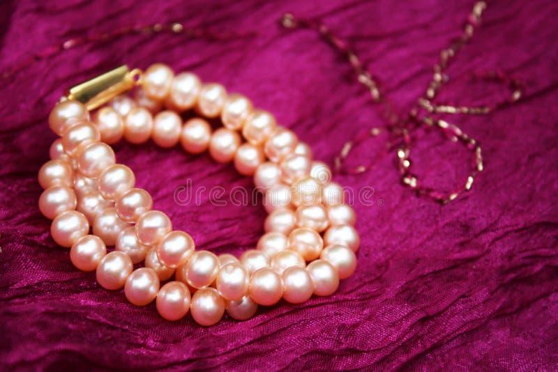 pärlemorfärg silk fotografering för bildbyråer