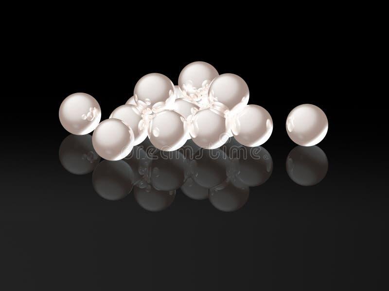 pärlor 3d vektor illustrationer