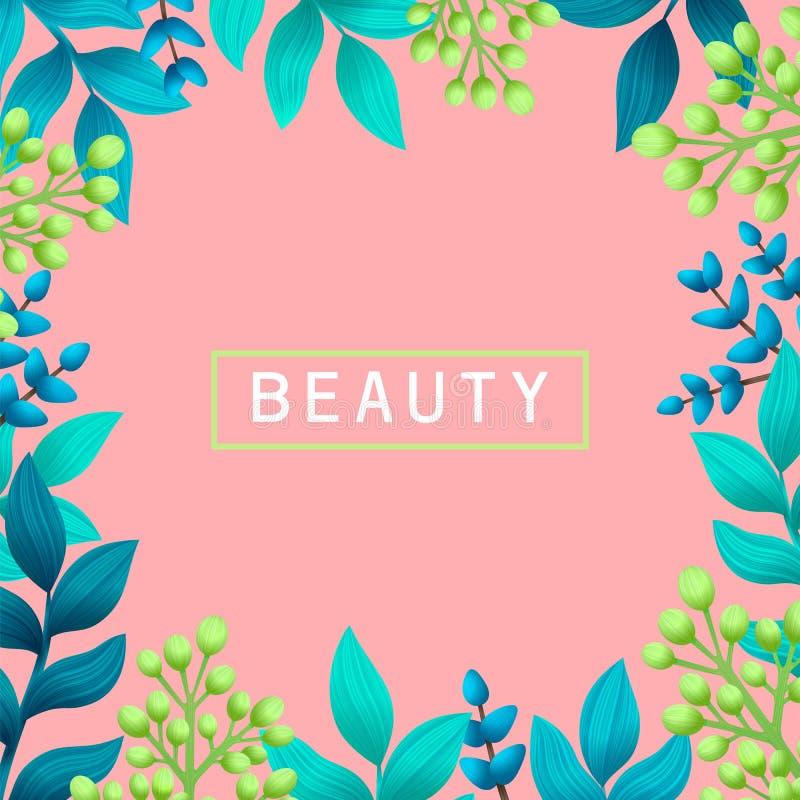 pärlor för blå för begrepp för bakgrundsskönhet blir grund naturliga over för behållare kosmetisk för djup för detalj för fält fu stock illustrationer