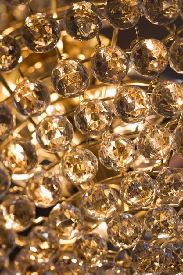 pärlor stänger upp kristallen royaltyfri fotografi