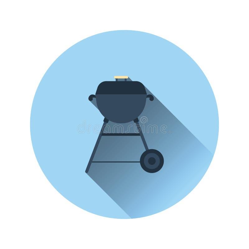 Płaska projekt ikona grill ilustracji